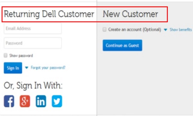 Changing the account page header from 'Don't have an account?' to 'New customer'
