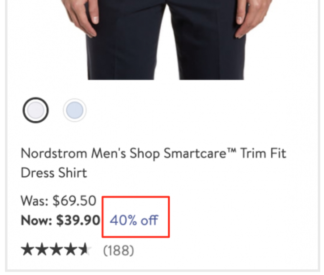 """Showing """"You Save #%"""" on the category and product pages 